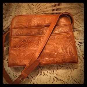 Amazing Vintage Tooled Leather Purse